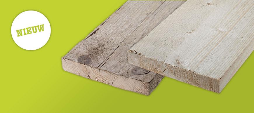 Nieuw in het assortiment: Steigerhout