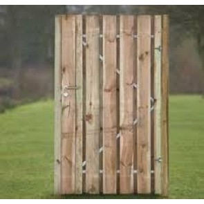 Tuindeur Privacy 200x100 cm . Incl. RVS Slot en ophangsysteem. ***