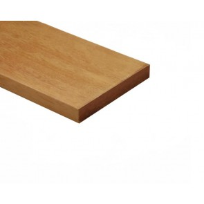 Vlonderplank Hardhout 2.8x19x305 cm. Glad Geschaafd - Extra Breed.