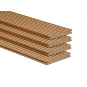 Massief Composiet Vlonderplank 2x14x400 cm. Naturel.