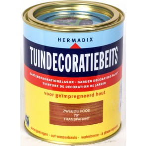 Tuindecoratiebeits Zweeds-Rood Transparant 2.5 Ltr.