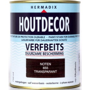 Houtdecor Noten Transparant 0.75 Ltr.
