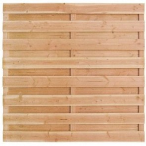 Tuinscherm Timber 180x180 cm. Douglas 15 planks.